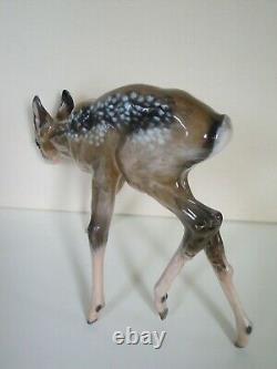 12 Art Deco Rosenthal Porcelain Figurine Roe Deer Fawn #1775 F Heidenreich Rare