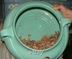 1940s Mint Green ZANESVILLE Pottery Art Deco POT Humidifier