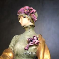 1959 Giuseppe Cappe Capodimonte Italy Deco Lady & Whippet Dog Porcelain Figurine