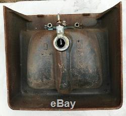 1967 AR Vintage Mid Century Art Deco Baby Blue Porcelain Cast Iron Bath Sink