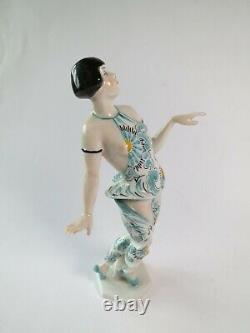 3 Porzellan Figuren Heubach Tänzerin Art Deco Thüringen Figurine Porcelaine