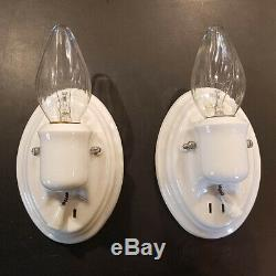 671z Vintage Antique art deco Ceiling Light Sconce Fixture bath porcelain NOS