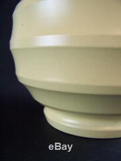 A Keith Murray for Wedgwood Matt Straw Football (shape 3765) Vase Perfect