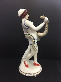 A Superb Vintage Hand Painted Porcelain Of'cleopatra'. Germany By'volkstedt