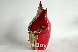 AN EXQUISITE ART DECO BONBONNIERE BY ROBJ PARIS 1930s. RARE RED & GOLD VERSION