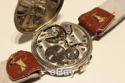 ART DECO WW1 ERA RARE SWISS 34mm MEN'S MECHANICAL WATCH DOXA/PORCELAIN DIAL