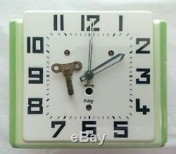 Antique Art Deco Ceramic Kitchen Wall Clock Early 1920s Germany Vtg Porcelain