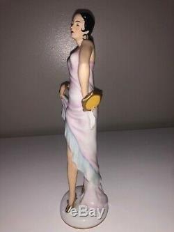 Antique Art Deco German Porcelain Lady Woman Dancer Ballerina Figurine Figure