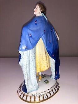 Antique Art Deco German Porcelain Lady Woman Figurine Figure E. A. Muller Dresden