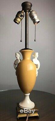 Antique Art Deco Lamp Porcelain DAV Art NY