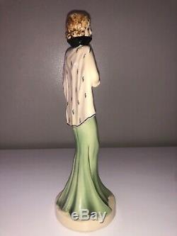 Antique Art Deco Porcelain Lady Woman Flapper Figurine Figure Czechoslovakia