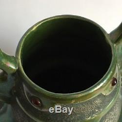 Antique Austria irisated Porcelain Vase cabochon/ Amphora Teplitz