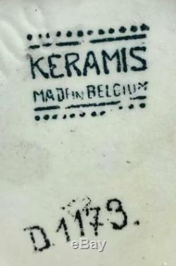 Antique Boch Freres Keramis D1173 Belgium Charles Catteau Art Deco Floral Vase