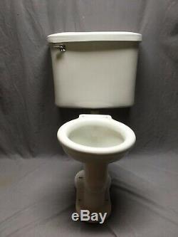 Antique Ceramic White Porcelain Complete Toilet Bowl Tank Lid Old Vtg 214-20E