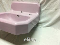 Antique Deco Cast Iron Lavender Lilac Porcelain Bath Sink Vtg Standard 555-20E