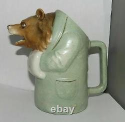 Antique German Porcelain Schafer Vater Art Nouveau Deco Figural Bear Creamer