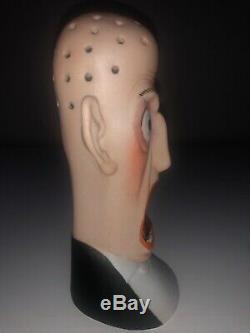 Antique German Schafer Vater Porcelain Bisque Match Holder Figurine Figure