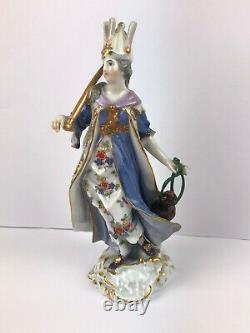 Antique Meissen Asia F. Meyer 1720 Hand Painted Royal Porcelain Figurine 19'c