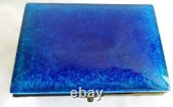 Antique Pm Sevres France Cobalt Blue Porcelain Casket With Ormolu Hinge