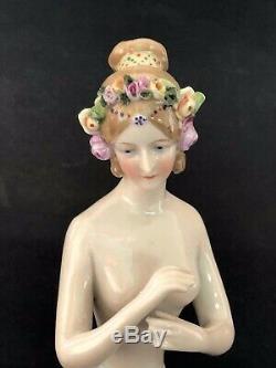 Antique Porcelain Half Doll Art Deco Lady GOEBEL Awesome Design
