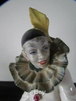 Antique Porcelain Hutschenreuther Pierrot Signed Gunther Granget Figurine