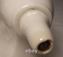 Antique Porcelain Sconce Light Fixture Wall Vtg Art Deco Pair 2 Rewired USA #N5