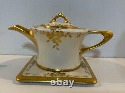 Antique Rosenthal Donatello Bavaria Art Deco Porcelain Teaser with Gold Floral Dec