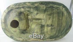 Antique US Weller Woodcraft Muskota Art Deco Cat Fish Bowl/Plant Holder A927