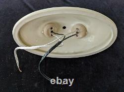 Antique Vintage Porcelier Porcelain 2-Bulb Ceiling Light Fixture, Rewired