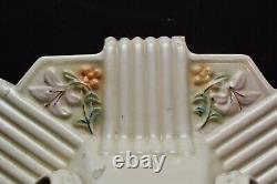 Antique Vtg Art Deco Flush Mount Ceiling Fixture Light Porcelain Ceramic 10