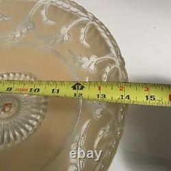 Antique beige glass 14 Art Deco flush mount ceiling light fixture Porcelier