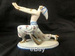 Antique german porcelain Galluba & Hofmann Art deco Figurine Egyptian Dancer