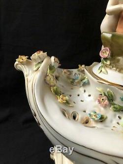 Antique porcelain large centrepiece. Marked Bottom. Meissen style