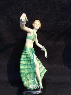 Art Deco Fasold & Stauch Bock Wallendorf Germany porcelain figurine no 15303