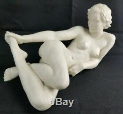 Art Deco Fritz Klimsch Rosenthal Porcelain German Nude 16x9x9