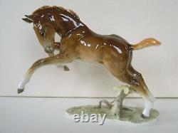 Art Deco Hutschenreuther-rosenthal Larking Horse Foal Porcelain Figurine