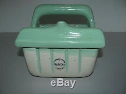 Art Deco Jade Green Unused Ceramic Fowler Ware Australia Soap & Washer Holder
