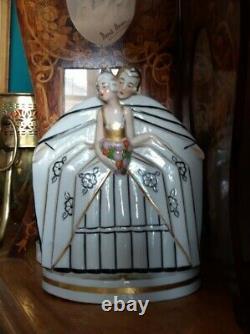 Art Deco Lady Boudoir Night light Perfume lamp 1920s French Porcelain The Lovers