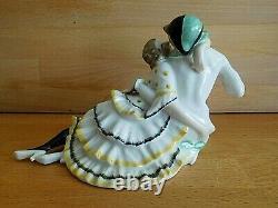 Art Deco Lorenz Hutschenreuther Porcelain Pierrot And Pierrette Figure Group