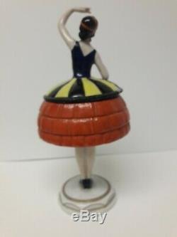 Art Deco Porcelain Figural Powder Box