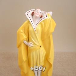 Art Deco Porcelain Perfume Lamp Figural Lady Incense Burner Figurine Germany Vtg