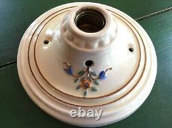 Art Deco Porcelier Light Fixtures (3 Matching)