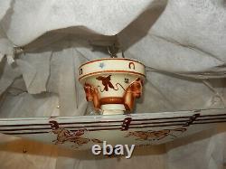 Art Deco Porcelier Porcelain Cowboy Fixture with Original Art Deco Cowboy Shade