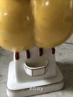 Art Deco ROBJ, Paris C. 1920 Figural Yellow Birds Porcelain Perfume Lamp France