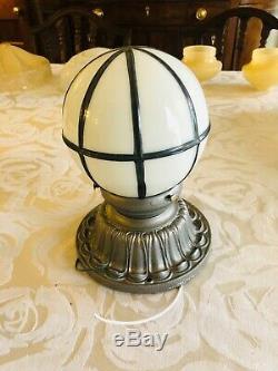 Art Deco Restored Antique Cast Iron Art Nouveau, Victorian Flush Light Fixture