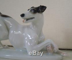 Art Deco Rosenthal Fox / Jack Russel Terrier Kaerner #135 Porcelain Dog Figurine