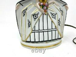 Art Deco & Veilleuse Porcelaine Vers 1930 & Lampe & Couple Amoureux