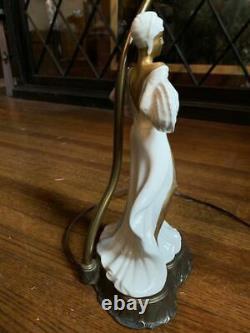 Art Deco flapper dancer Josephine Baker porcelain lamp 1920s/30s like Erte