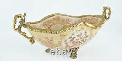 Art Nouveau Style Bowl Soapdish Flower Art Deco Style Porcelain Porcelain