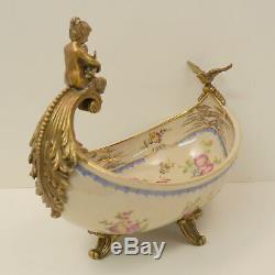 Art Nouveau Style Centerpiece Fruit plate Bird Flower cherub Baby Art Deco Style